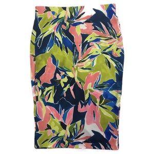 ECI Pencil Skirt Resort Floral Print SZ M